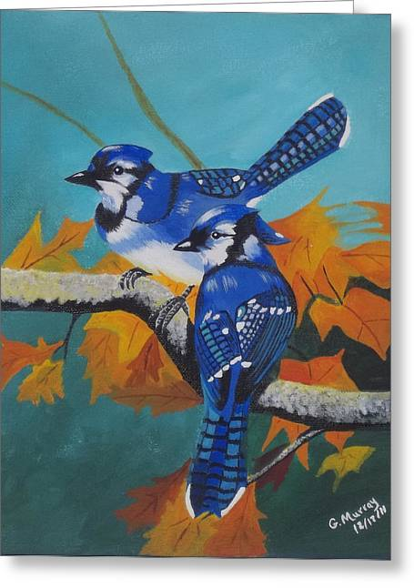 Etc. Paintings Greeting Cards - Blues Hangout Greeting Card by Gregory Murray