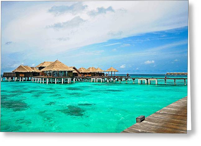 Maldivian Greeting Cards - Blues in Maldivian Performance  Greeting Card by Jenny Rainbow