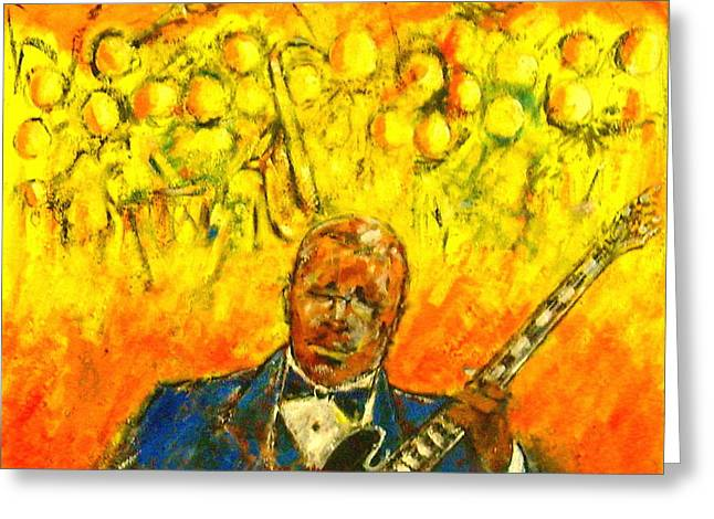 Keith Richards Paintings Greeting Cards - Blues Man Greeting Card by Aaron Harvey
