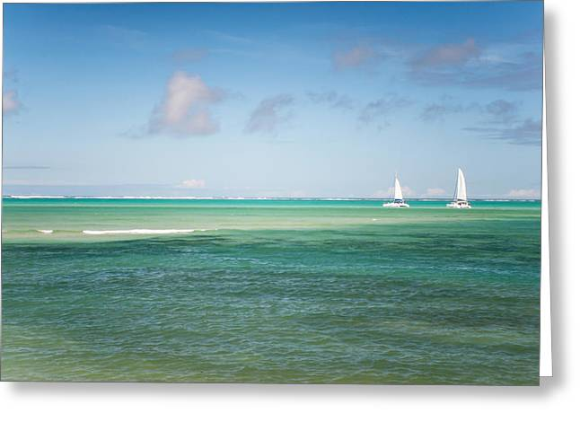 Best Ocean Art Greeting Cards - Blues. Mauritius Greeting Card by Jenny Rainbow