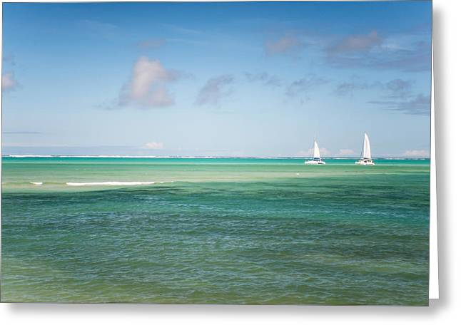 Ocean Art Photography Greeting Cards - Blues. Mauritius Greeting Card by Jenny Rainbow