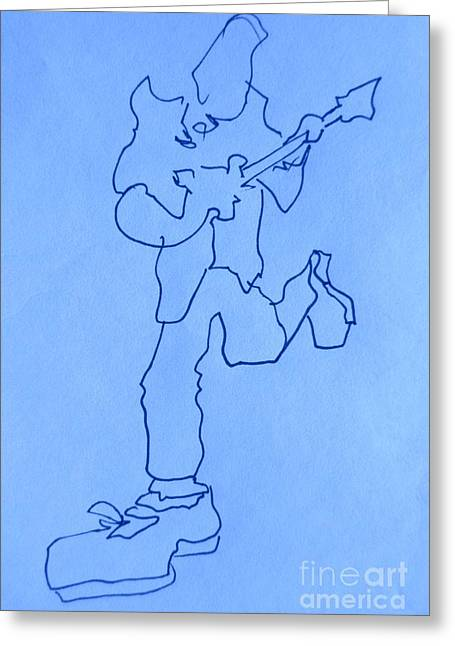 Player Drawings Greeting Cards - Blues Musicians Greeting Card by John Malone