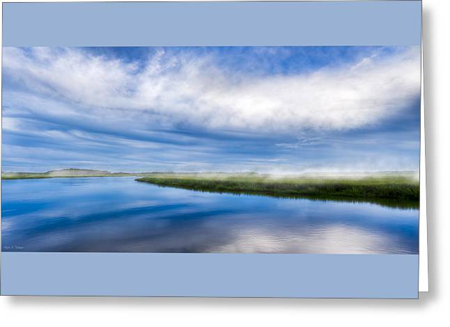 Blues On Moon River - Panorama Greeting Card by Mark E Tisdale