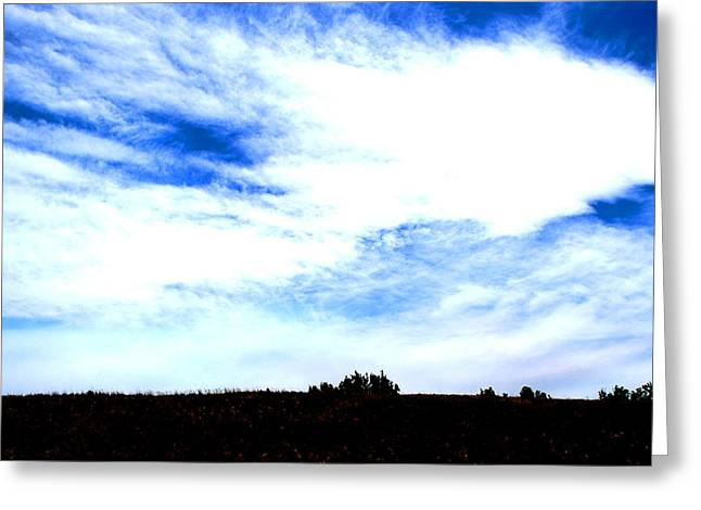 Becky Greeting Cards - #blueskies Greeting Card by Becky Furgason