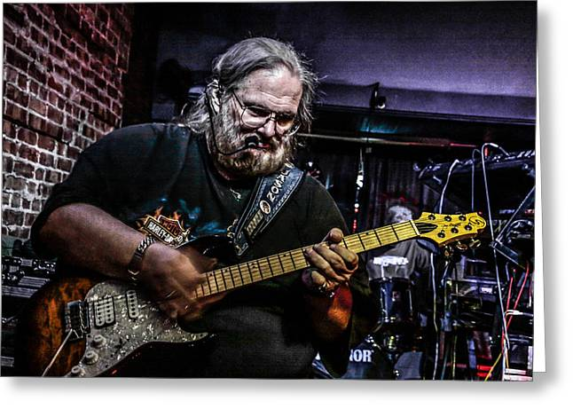 Bluesman Greeting Card by Ray Congrove