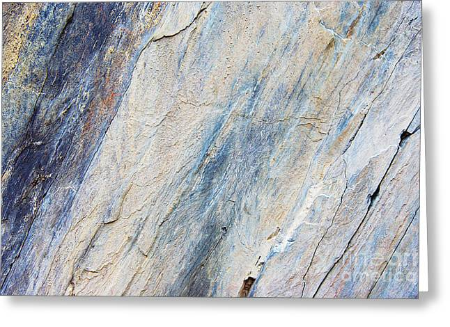 Stone Ground Greeting Cards - Bluestone - Cleaving Stone Greeting Card by Michal Boubin