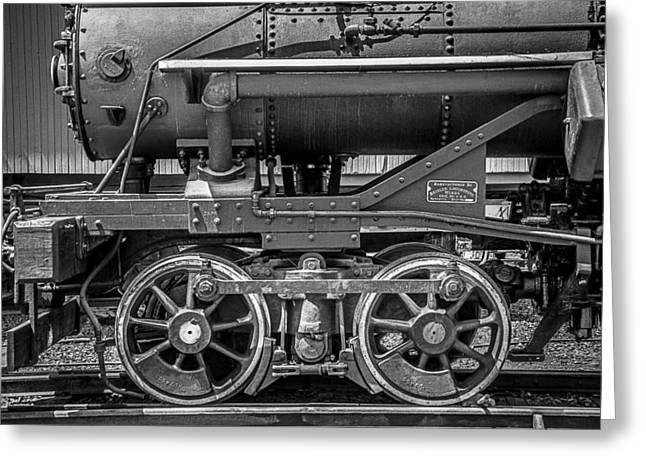 Number One Greeting Cards - Bluestone Train Engine  Greeting Card by Garry Gay