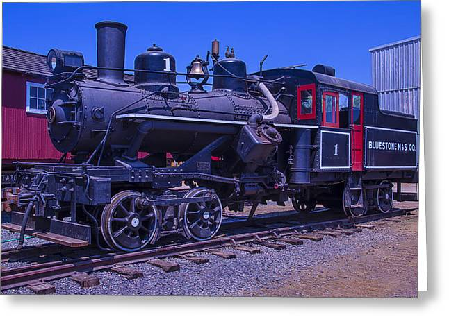 Old Train Greeting Cards - Bluestone train Number One Greeting Card by Garry Gay
