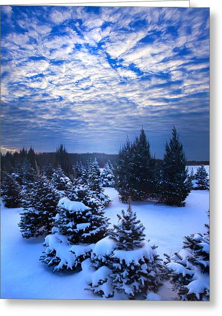 Geographic Greeting Cards - Bluetiful Greeting Card by Phil Koch