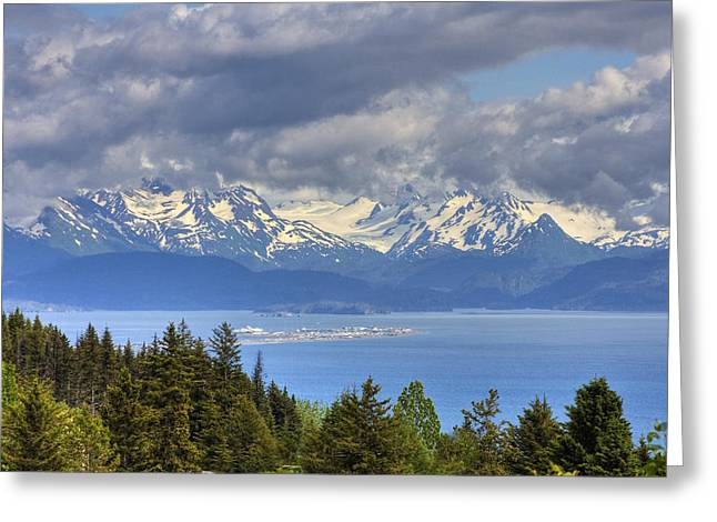 Hdr Landscape Greeting Cards - Bluff Overlooking Homer Spit, Alaska Greeting Card by Michael Criss