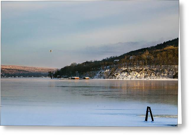 Keuka Greeting Cards - Bluff Point at Sunrise Greeting Card by Bob Magee