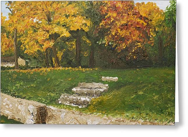 Monica Veraguth Greeting Cards - Bluffside in Autumn Greeting Card by Monica Veraguth