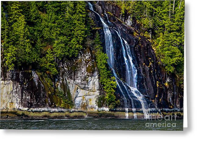Queen Charlotte Strait Greeting Cards - Bluish Greeting Card by Robert Bales
