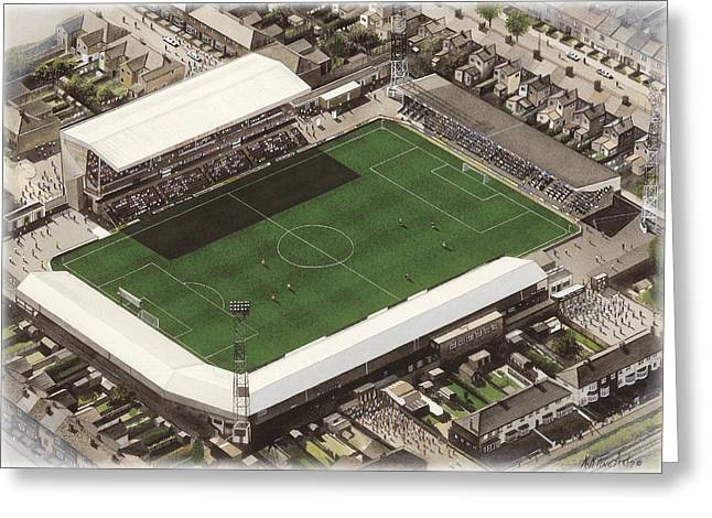 Blundell Park - Grimsby Town Greeting Card by Kevin Fletcher
