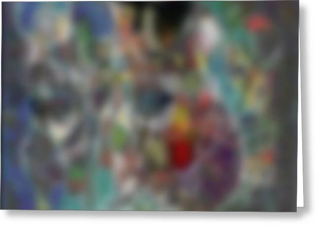 Blur #2 Greeting Card by George Curington