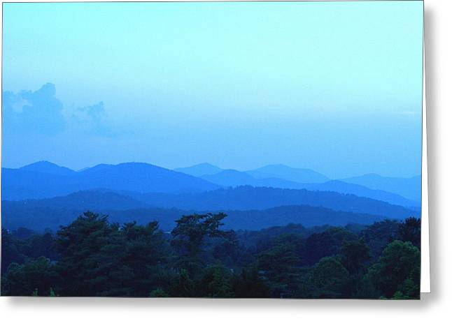 Grove Park Inn Greeting Cards - Blue Ridge Mountains  Asheville NC Greeting Card by Reginald Valliere