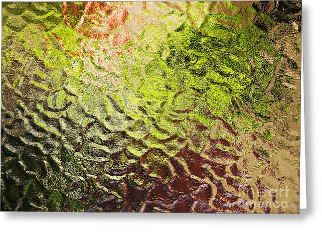 Blurr Greeting Cards - Blurred Glass Greeting Card by Sinisa Botas