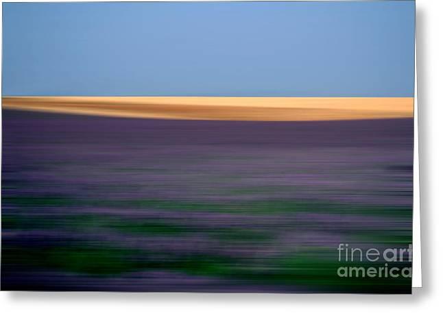 Cultivation Greeting Cards - Blurred landscape Greeting Card by Bernard Jaubert
