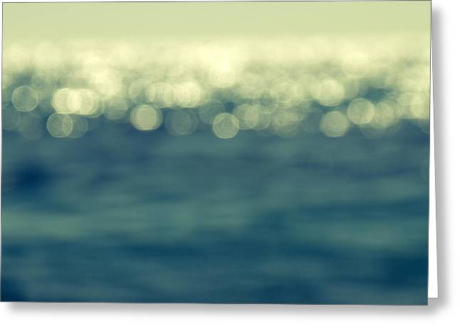 Sand Pattern Greeting Cards - Blurred Light Greeting Card by Stylianos Kleanthous