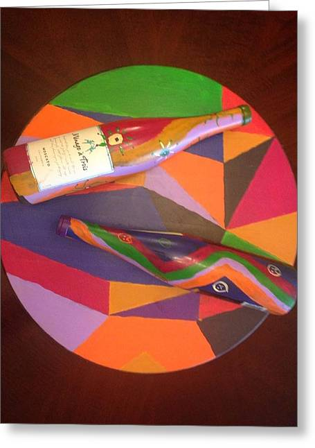 Bottled Sculptures Greeting Cards - Blurred Lines  Greeting Card by James  Busby