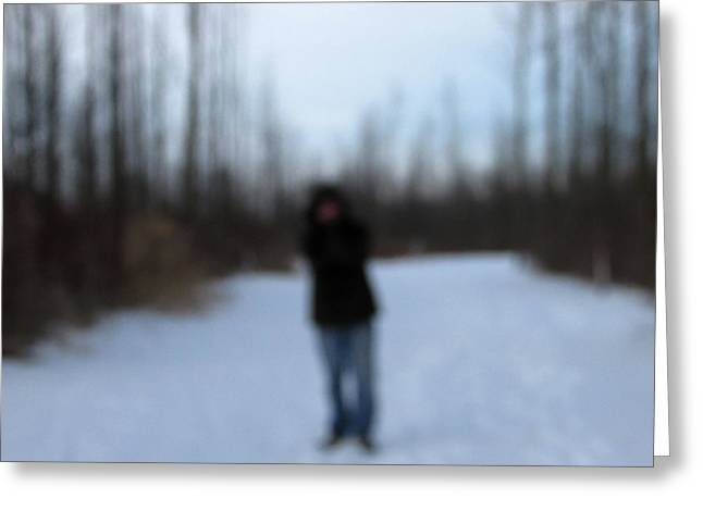 Brrrr Greeting Cards - Blurred to Distraction Greeting Card by Kimberly Mackowski