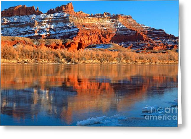 Southern Utah Greeting Cards - Blurred Utah Reflections Greeting Card by Adam Jewell