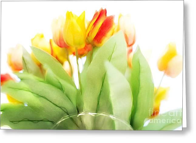 Lounge Digital Art Greeting Cards - Blurry Blurry Tulips Greeting Card by Natalie Kinnear
