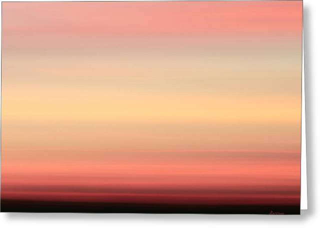 Landscape Iphone Phone Case Greeting Cards - Blush Greeting Card by Laura  Fasulo