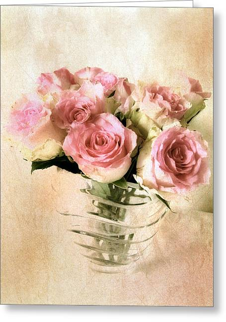 Pink Digital Greeting Cards - Blush Rose Greeting Card by Jessica Jenney