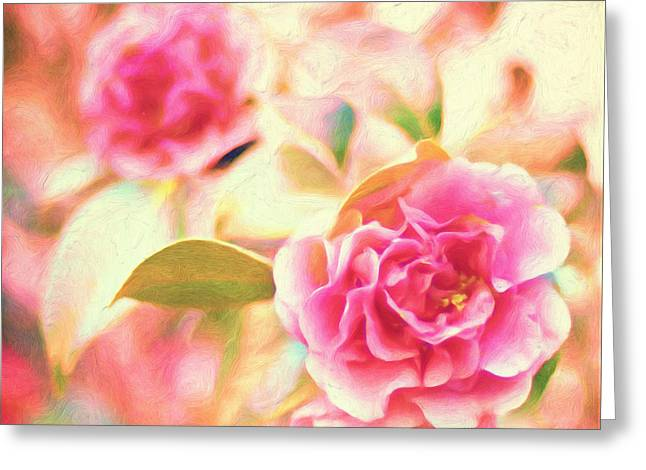 Blushing Greeting Cards - Blush Strokes Greeting Card by Joel Olives