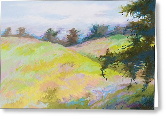 Windy Pastels Greeting Cards - Blustery Greeting Card by Bruce Richardson