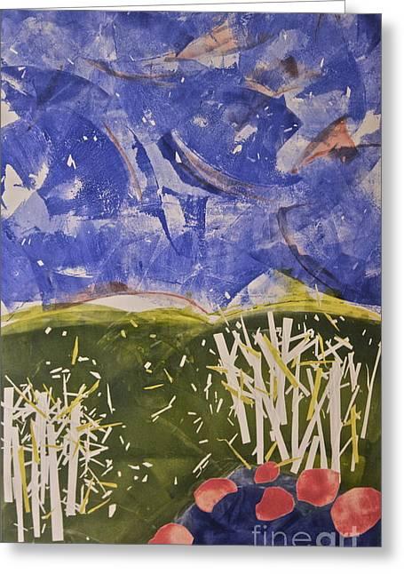 Blustery Day Greeting Card by Deborah Talbot - Kostisin