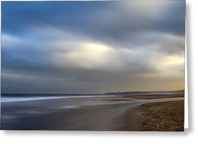 Blyth Greeting Cards - Blyth Sands Greeting Card by David Pringle