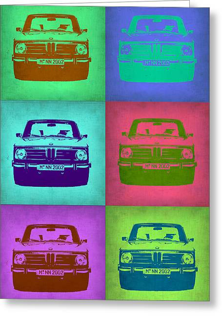 European Cars Greeting Cards - BMW 2002 Pop Art 2 Greeting Card by Naxart Studio