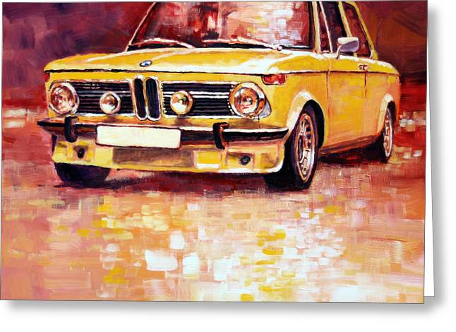 Bmw 2002 Turbo Greeting Card by Yuriy Shevchuk