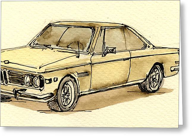 Cs Greeting Cards - BMW 3 CS coupe Greeting Card by Juan  Bosco