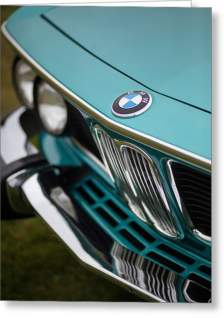 Classic Auto Greeting Cards - BMW 3.0 CS Front Greeting Card by Mike Reid