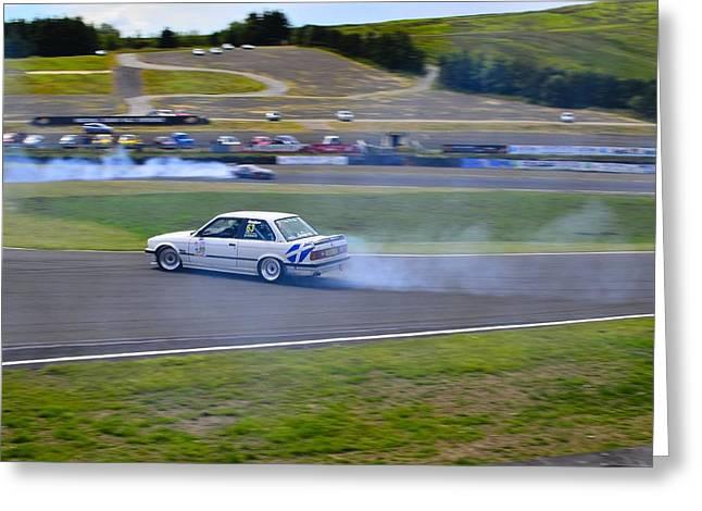 Prodrive Greeting Cards - BMW Drift Greeting Card by Phil Kellett
