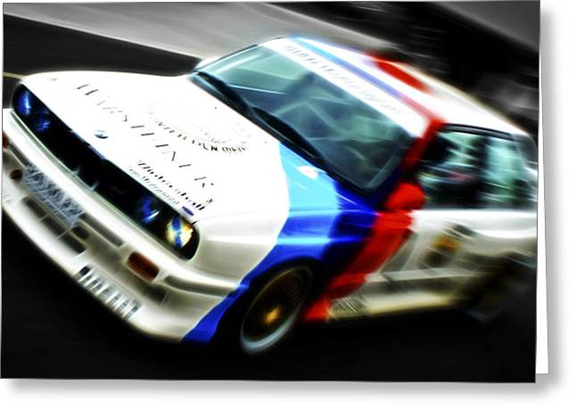 Motography Photographs Greeting Cards - BMW E30 M3 Racer Greeting Card by Phil