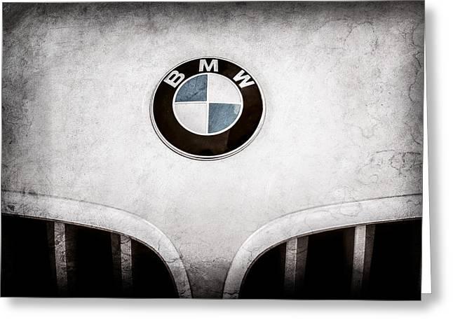 Bmw Emblem Greeting Cards - BMW Emblem -0017ac Greeting Card by Jill Reger