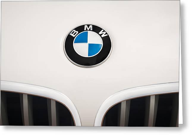 Bmw Emblem Greeting Cards - BMW Emblem -0017c Greeting Card by Jill Reger