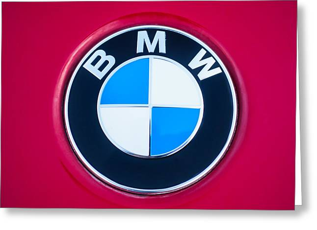 Famous Photographers Greeting Cards - BMW Emblem -0460c Greeting Card by Jill Reger
