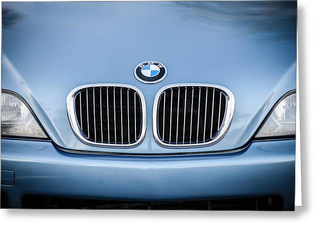 Bmw Emblem Greeting Cards - BMW Grille -1123c Greeting Card by Jill Reger