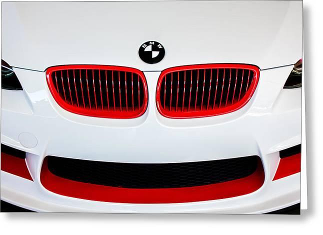 Bmw Emblem Greeting Cards - BMW Grille Emblem -0009c Greeting Card by Jill Reger