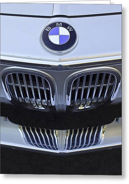 Professional Greeting Cards - BMW Grille Greeting Card by Jill Reger