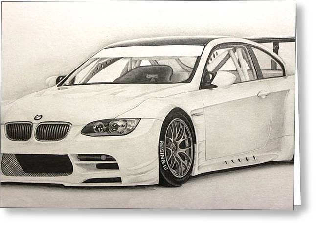 Exhaust Drawings Greeting Cards - Bmw Gtr M3 Greeting Card by Gary Reising