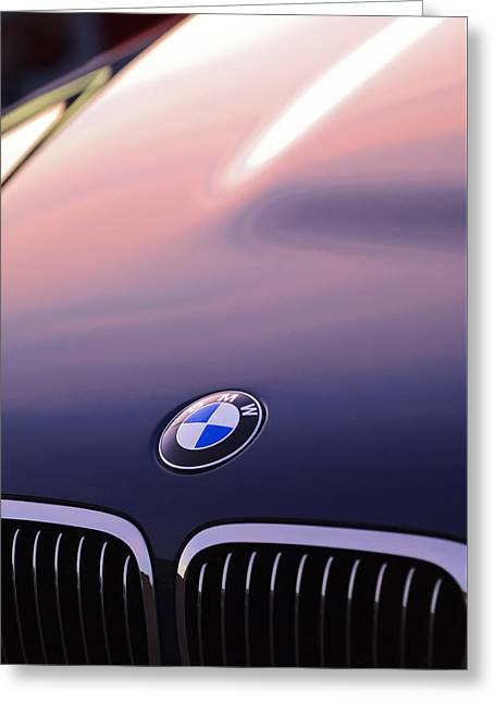 Bmw Hood Emblem Greeting Card by Jill Reger