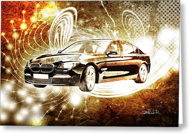 Virtual Reality Greeting Cards - Bmw Greeting Card by Isabel Salvador