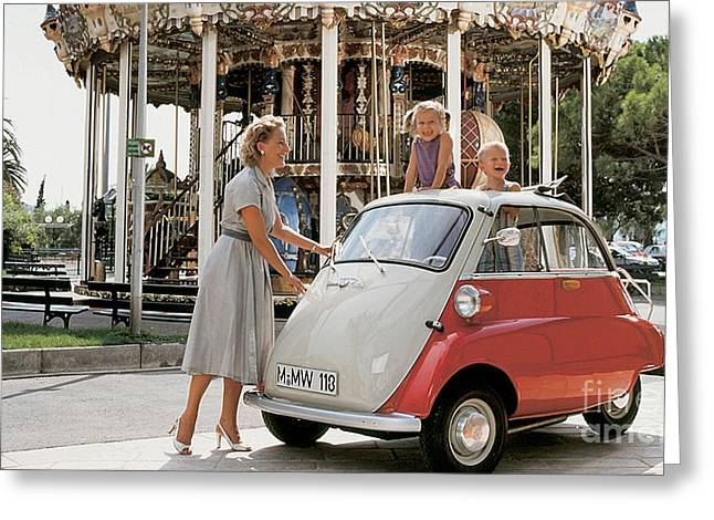 Cars Greeting Cards - BMW Isetta Greeting Card by Marvin Blaine