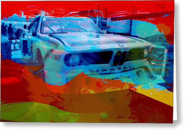 Bmw Watercolor Greeting Cards - BMW Laguna Seca Greeting Card by Naxart Studio
